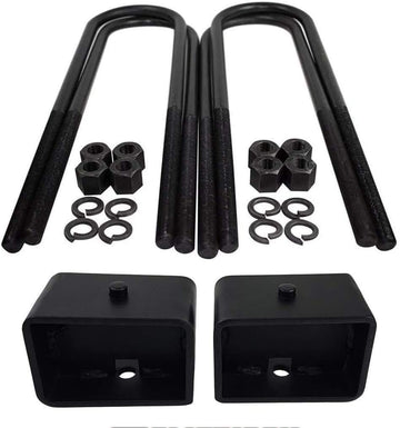 Ford Excursion Ford F250 F350 Super Duty Steel Lift Blocks and Square U-Bolts Kit