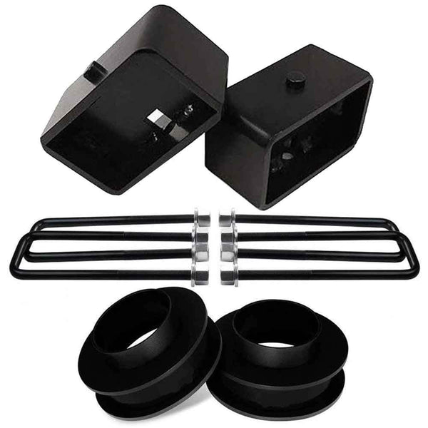 GMC Sierra Chevrolet Silverado 1500 2WD Leveling Lift Kit with 3 inch lift blocks - CS1BK30SB30UBS12-024