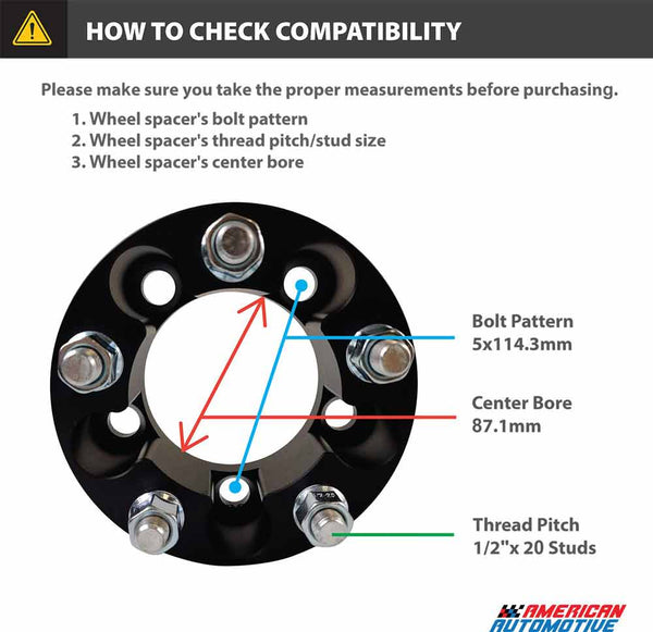Mazda B-Series and Navajo 2WD 4WD 2-Inch Wheel Spacers Compatibility Check
