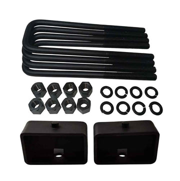 Nissan Titan 2WD 4WD Steel Lift Blocks and Square U-Bolts Kit