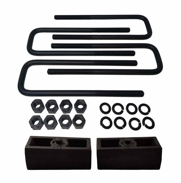 Universal Cast Iron Lift Blocks and 8-Inch Square U-Bolts Kit UBRB11-795 - 2 inch
