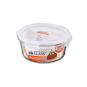 Others: Lock and Lock Heat Resistant Airtight Glass Container 950ml Round
