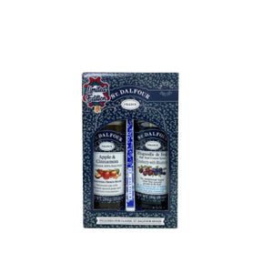 Other Snacks (Halal): St. Dalfour Fruit Spread Apple Cinnamon & Cranberry Blueberries Gift Pack
