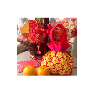 Festive Gifts: Non-woven Mandarin Orange Pouch