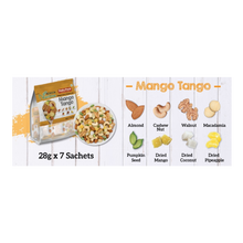 Load image into Gallery viewer, Healthy Snack (Halal): 28g x 7 NutriOne Mango Tango - Baked Nuts & Dried Fruits Daily Pack