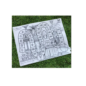 Support Local: Our Button Nose Reusable Silicone Colouring Mat – Singapore Game and Colour Mat (includes 3 pcs of marker)
