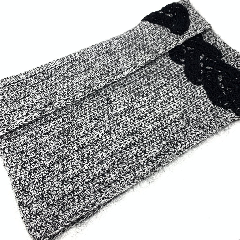 Lady Marian Versatile Wrap in Black + White