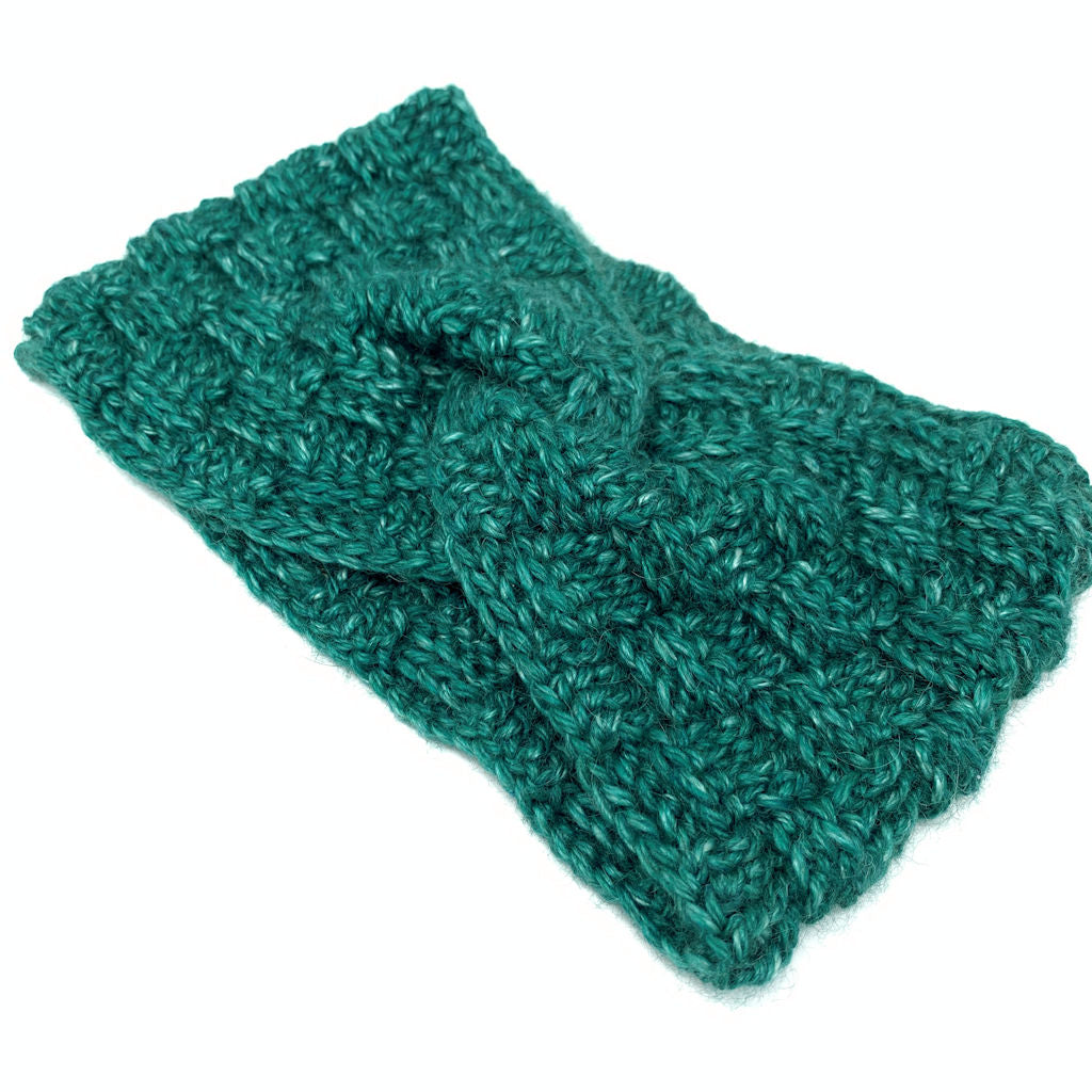 Symmetry Headband in Emerald