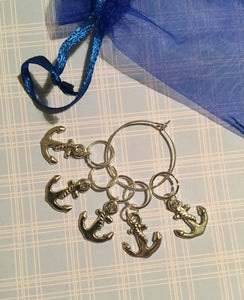Set of 5 Anchors Stitch Markers