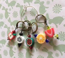 Load image into Gallery viewer, Set of 5 Fruit Stitch Markers
