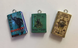 Miniature Book Charm Stitch Marker, Harry Potter Hogwarts inspired