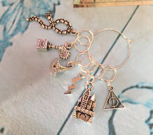 Load image into Gallery viewer, Set of 6 Harry Potter Inspired Stitch Markers
