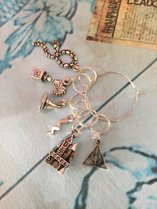 Set of 6 Harry Potter Inspired Stitch Markers
