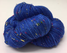 Load image into Gallery viewer, Superwash Merino Coloured Donegal Nep Sock Yarn, 100g/3.5oz, Electric Chapel