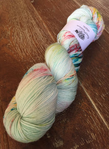 Superwash Merino Nylon Platinum Sock Yarn, 100g/3.5oz, Turn Up The Radio