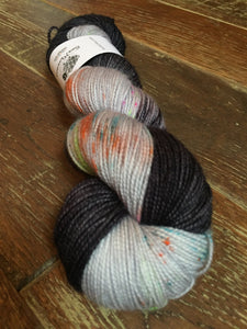 Superwash Merino Nylon Titanium Sock Yarn, 100g/3.5oz, Death By Matrimony
