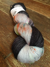 Load image into Gallery viewer, Superwash Merino Nylon Titanium Sock Yarn, 100g/3.5oz, Death By Matrimony