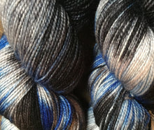 Load image into Gallery viewer, Superwash Merino Nylon Titanium Sock Yarn, 100g/3.5oz, Leather and Jeans
