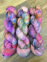Load image into Gallery viewer, Superwash Merino Sparkle Single Ply Fingering Yarn, 100g/3.5oz, Clown