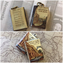 Load image into Gallery viewer, Miniature Book Charm, Hercule Poirot, Agatha Christie inspired