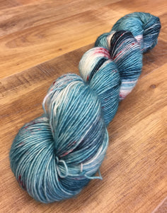 Superwash Merino Single Ply Fingering Yarn, 100g/3.5oz, Don't Stop, Let's Party