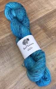 Superwash Merino Single Ply Fingering Yarn, 100g/3.5oz, Beyond The Irish Sea