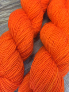Superwash Mohair/Merino/Nylon Sock Yarn, 100g/3.5oz, Orange Colored Sky
