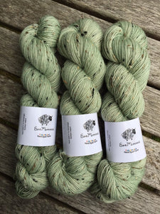 Superwash Bluefaced Leicester Donegal Nep Sock Yarn, 100g/3.5oz, Whisperer