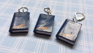 Miniature Book Charm, The Great Gatsby, F Scott Fitzgerald inspired