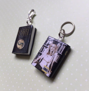 Miniature Book Charm Stitch Marker, Harry Potter & The Deathly Hallows, JK Rowling inspired