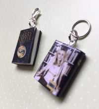 Load image into Gallery viewer, Miniature Book Charm Stitch Marker, Harry Potter & The Deathly Hallows, JK Rowling inspired