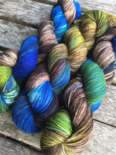 Load image into Gallery viewer, Superwash Merino Nylon Titanium Sock Yarn, 100g/3.5oz, The Watchman Has Retired