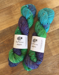 Superwash Bluefaced Leicester Donegal Nep Sock Yarn, 100g/3.5oz, Teenage Kicks