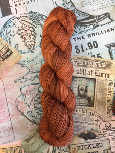 Superwash Merino Nylon Titanium Sock Yarn, 100g/3.5oz, Ginger Beer