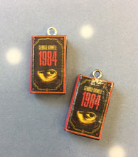 Load image into Gallery viewer, Miniature Book Charm Stitch Marker, 1984, George Orwell inspired