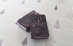 Miniature Book Charm Stitch Marker, A Christmas Carol, Charles Dickens inspired