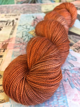 Load image into Gallery viewer, Superwash Merino Nylon Titanium Sock Yarn, 100g/3.5oz, Ginger Beer