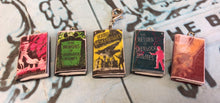 Load image into Gallery viewer, Miniature Book Charm Stitch Marker, Sherlock Holmes, Arthur Conan Doyle inspired