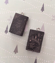 Load image into Gallery viewer, Miniature Book Charm Stitch Marker, A Christmas Carol, Charles Dickens inspired