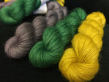 Load image into Gallery viewer, Non Superwash Wensleydale British Wool, 4 Ply Yarn, 100g/3.5oz, Glitter and Grease