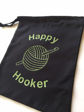 Load image into Gallery viewer, Happy Hooker Cotton Drawstring Tote Bag