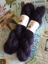Load image into Gallery viewer, Superwash Kid Mohair Silk Lace Yarn, 50g, 420m, Purple Teardrops