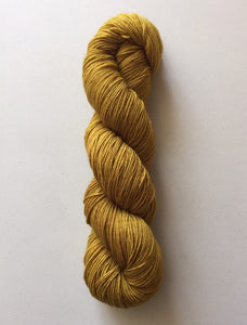 Superwash Bluefaced Leicester Nylon Ultimate Sock Yarn, 100g/3.5oz, Gold Rush