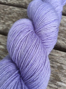 Superwash Bluefaced Leicester Nylon Ultimate Sock Yarn, 100g/3.5oz, Lady Susan, Lilac, Semi Solid