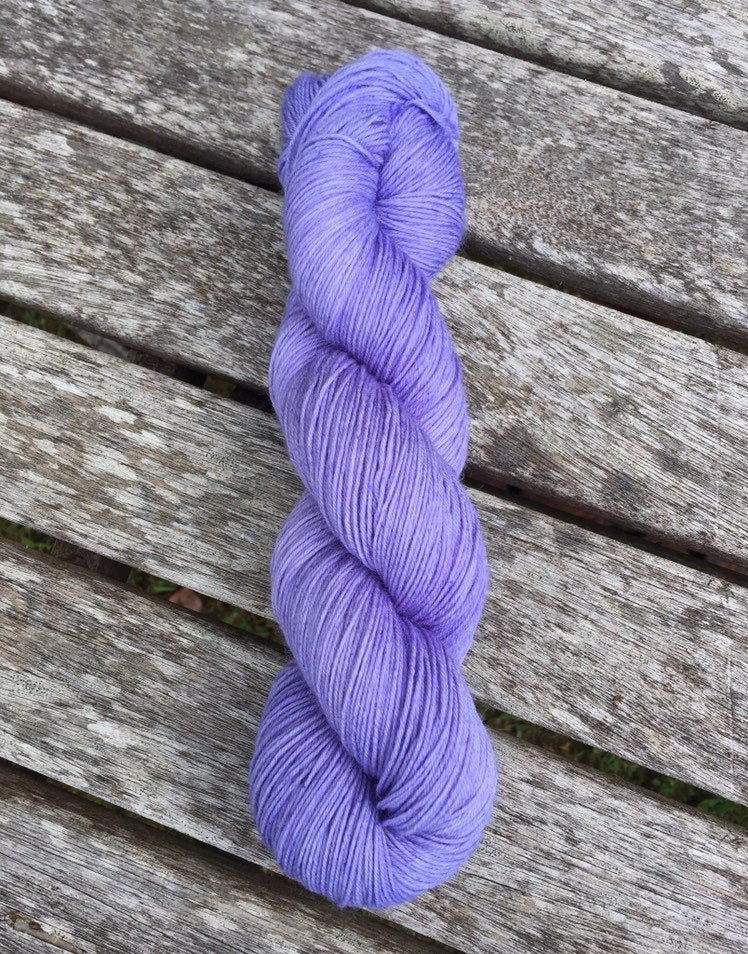Superwash Bluefaced Leicester Nylon Ultimate Sock Yarn, 100g/3.5oz, Wallflower, Lilac, Semi Solid
