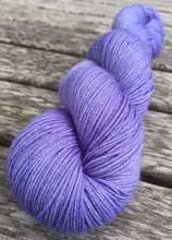 Load image into Gallery viewer, Superwash Bluefaced Leicester Nylon Ultimate Sock Yarn, 100g/3.5oz, Wallflower, Lilac, Semi Solid