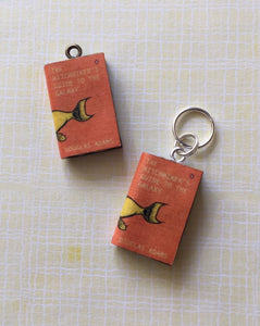 Miniature Book Charm Stitch Marker, The Hitchhiker's Guide to the Galaxy, Douglas Adams inspired