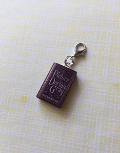 Miniature Book Charm Stitch Marker, The Picture of Dorian Gray, Oscar Wilde inspired