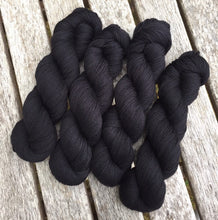 Load image into Gallery viewer, Superwash BFL Nylon Ultimate Sock Yarn, 100g/3.5oz, Have You Seen This Wizard, Black Yarn
