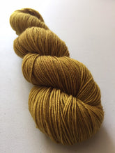 Load image into Gallery viewer, Superwash Bluefaced Leicester Nylon Ultimate Sock Yarn, 100g/3.5oz, Gold Rush